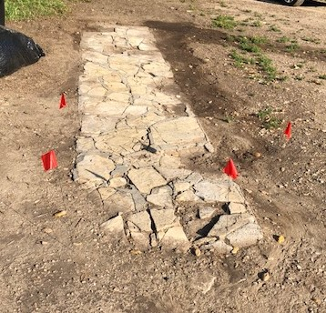 BABA'S WALKWAY is the focus of an archaeological dig at Meher Mount. Avatar Meher Baba used this walkway during His 1956 visit. (Photo: Cassandra Bramucci, May 2018)