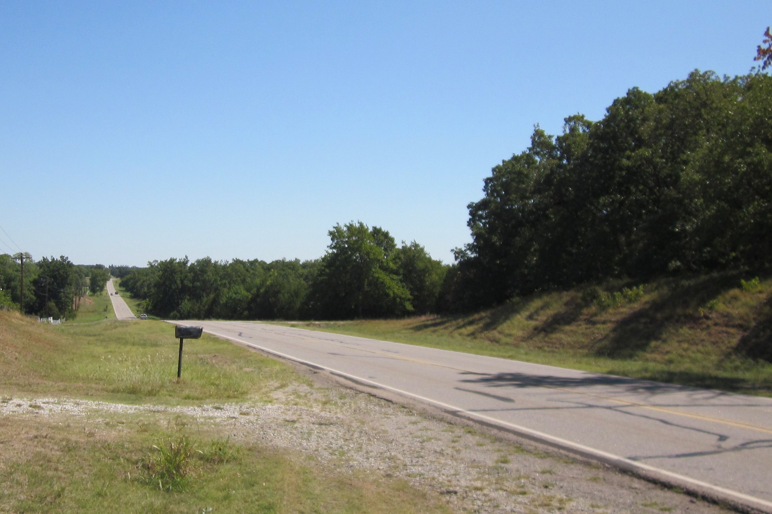 THE SITE of Avatar Meher Baba's automobile accident on May 24, 1952, near Prague, OK. (Photo: Wayne Myers)