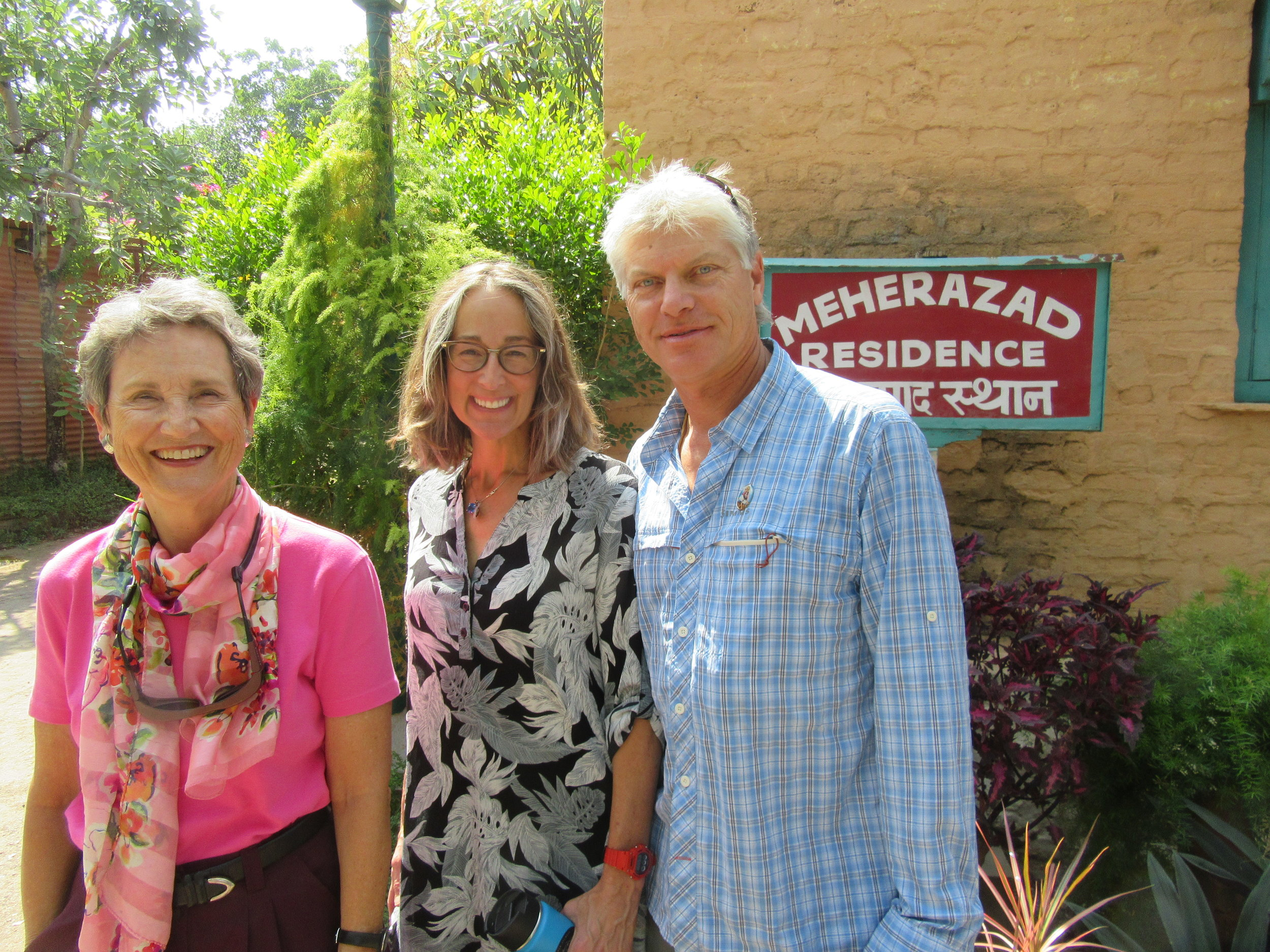 CARETAKER RECRUITMENT IN INDIA. Margaret Magnus and Sam Ervin (not pictured) met Ellen Kwiatkowski and Eric Carlson in India in October 2018 and encouraged them to consider being caretakers at Meher Mount. Ellen and Eric visited in January 2019, said yes months later, and arrived at Meher Mount by the end of June 2019. (Photo: Sam Ervin, October 2018)