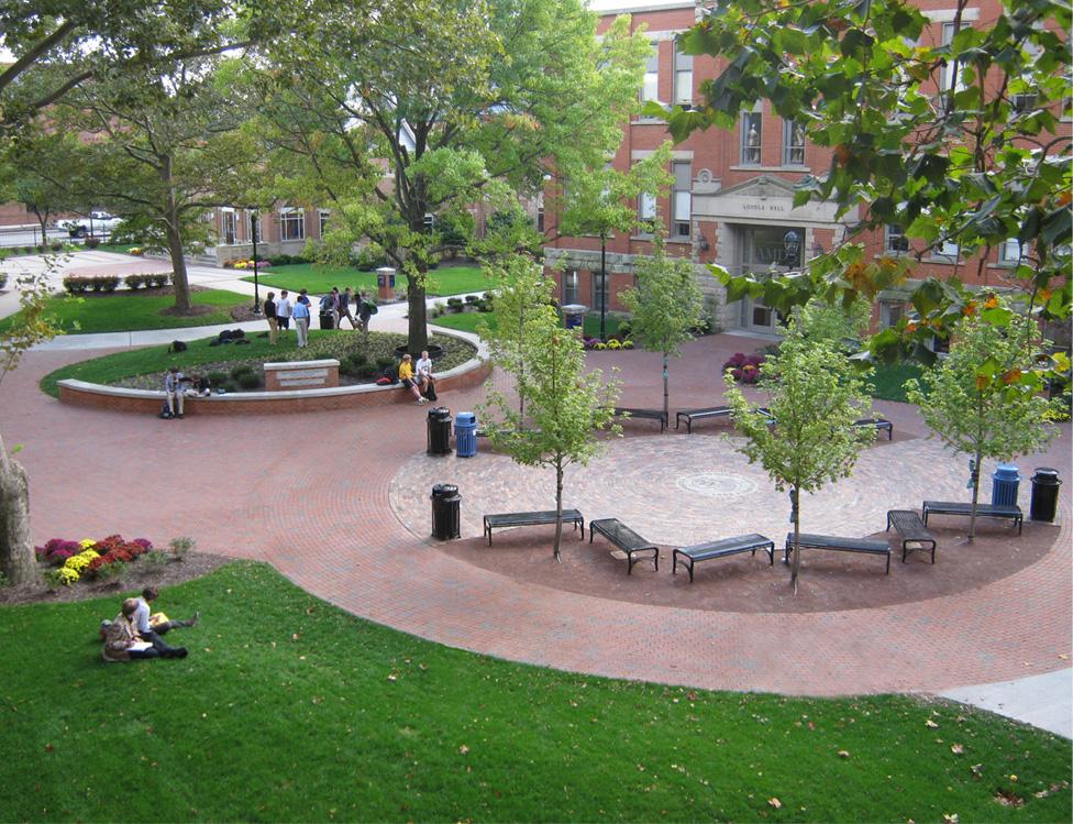 St Ignatius High School Pedestrian Mall Behnke Landscape Architecture