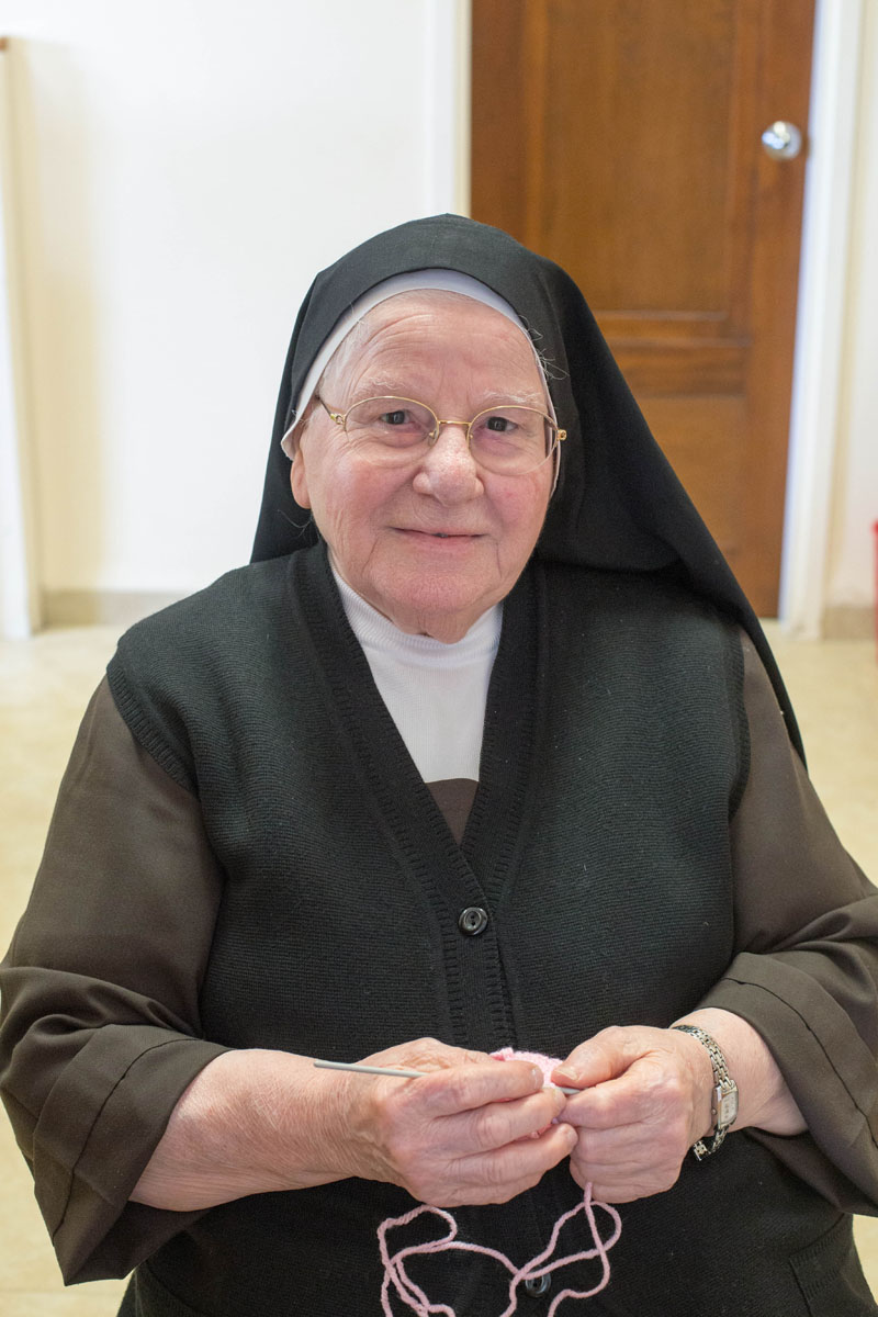One of my favorite things to do on trips is hear people's stories. The nuns always surprise me. This nun has served in the Middle East for many years, she has witnessed many wars, yet still crochets, probably like she's always done.