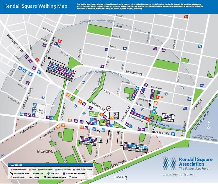 Kendall Square Association walking map