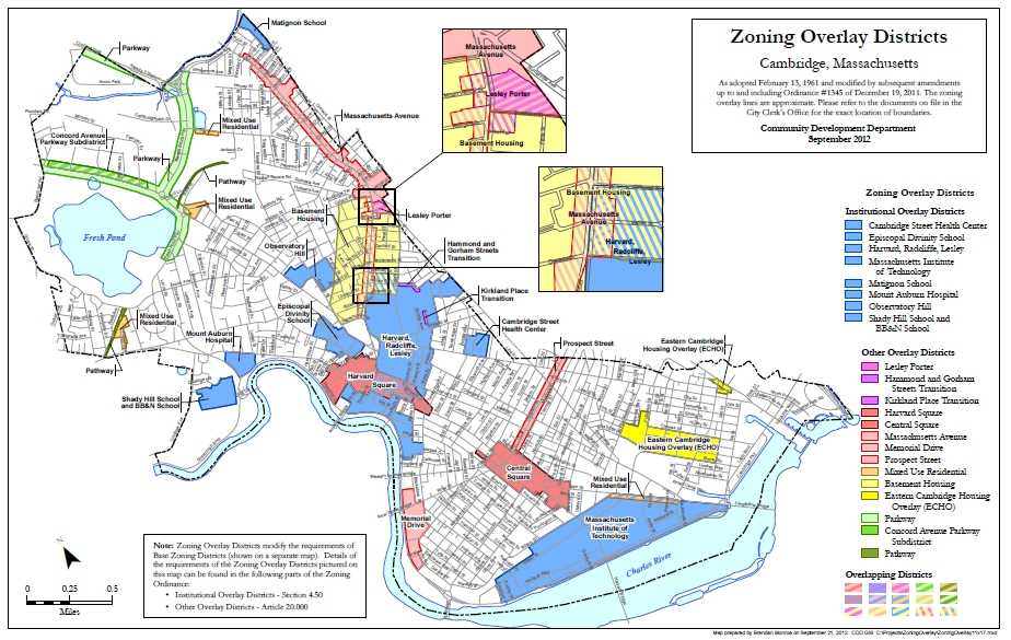 Cambridge Zoning Overlay Districts