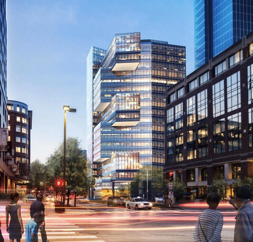Design Renderings - View Looking West Along Broadway