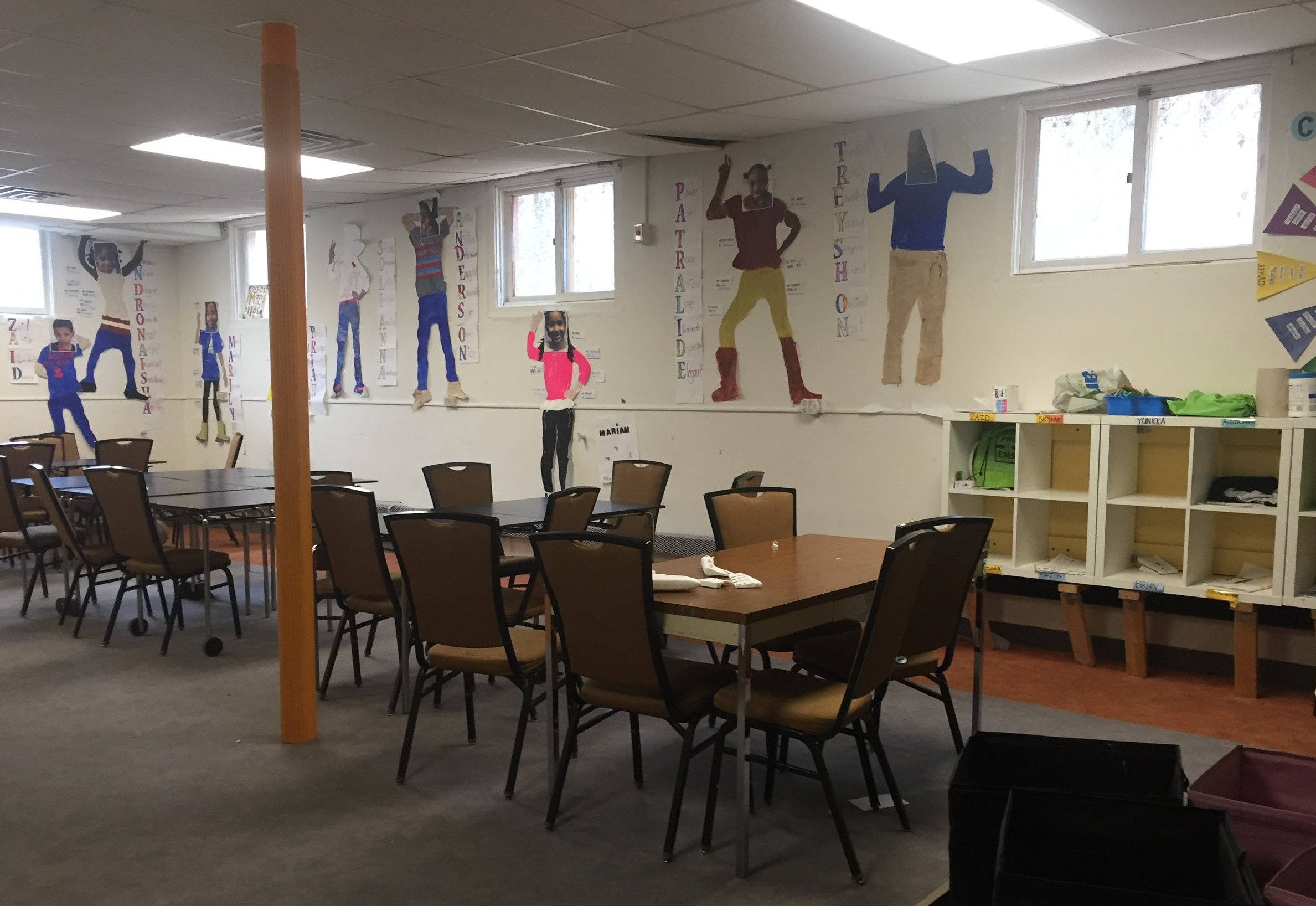 Room in the current childcare facility.