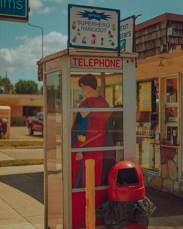 caught superman making collect calls from michigan...