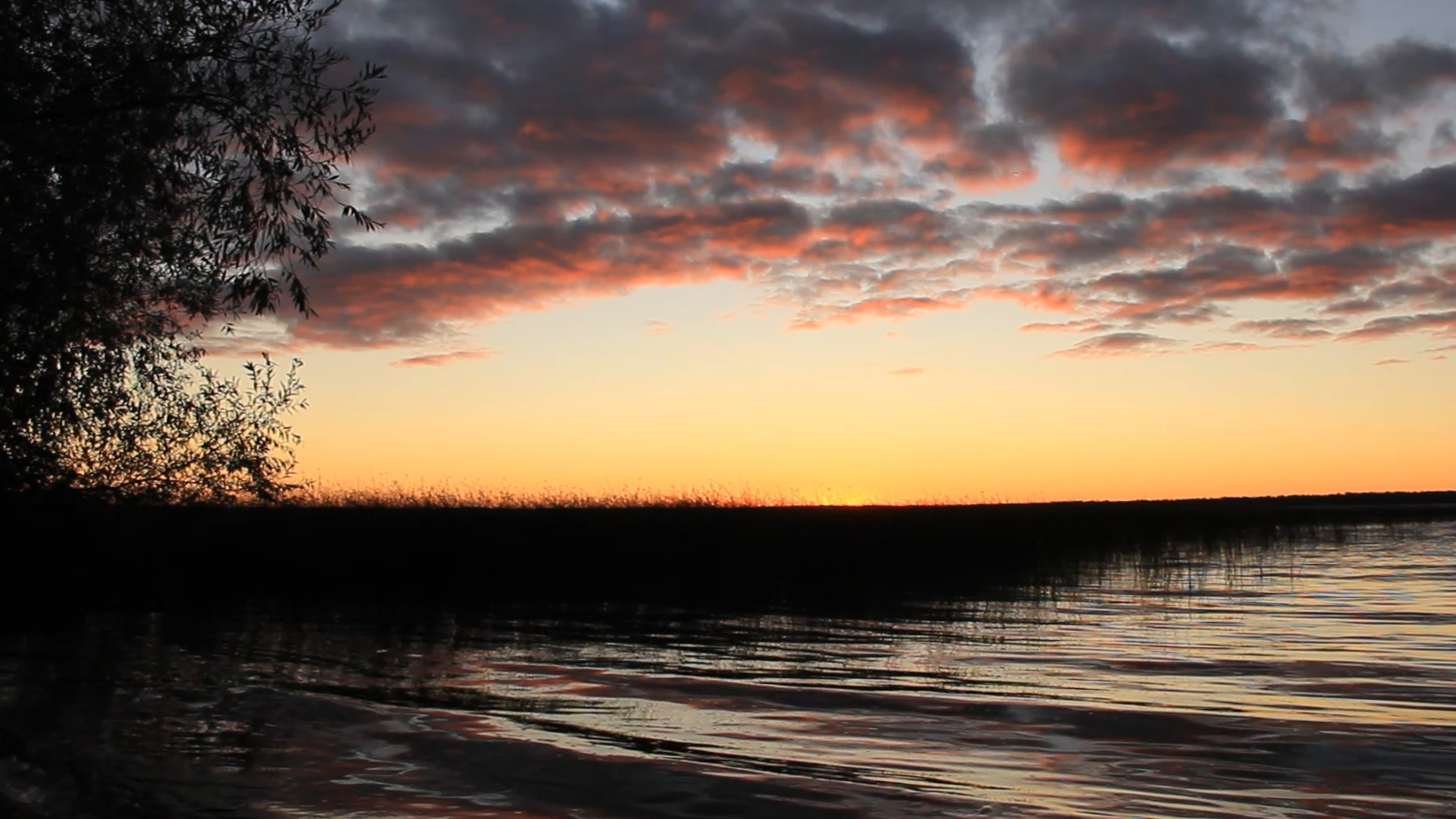Sunset on Otter Tail Lake