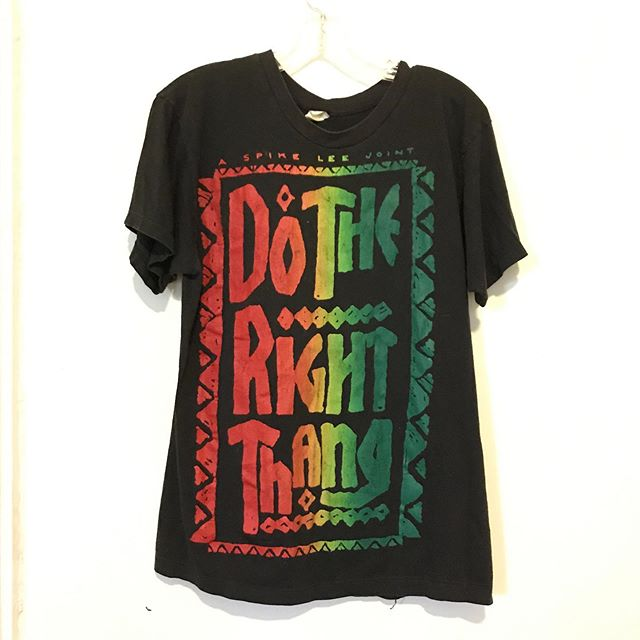 "Super soft and thin VTG ""Do The Right Thang"" tee. Single stitch. SZ.M $74.95 #foxandfawn"