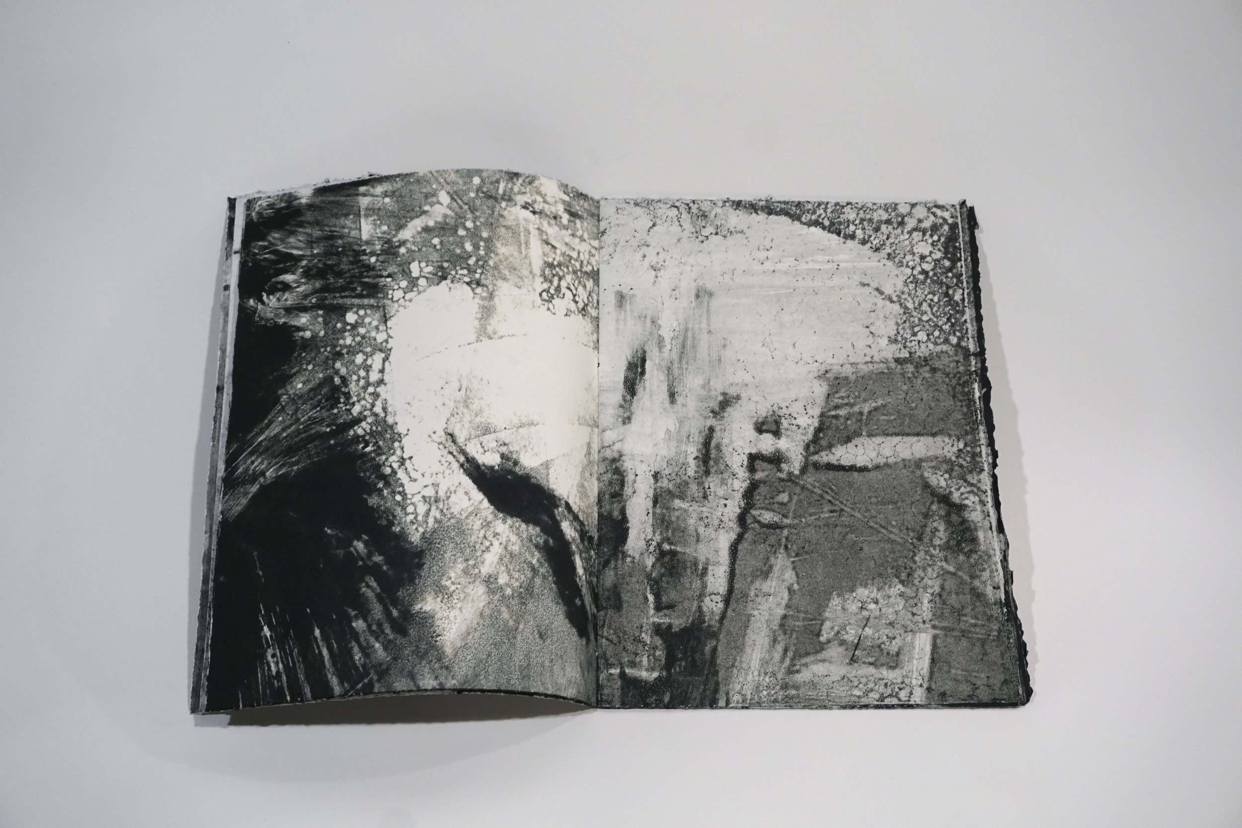 Ge-Gr Vocabulary book. Book of 16 pages of monotypes