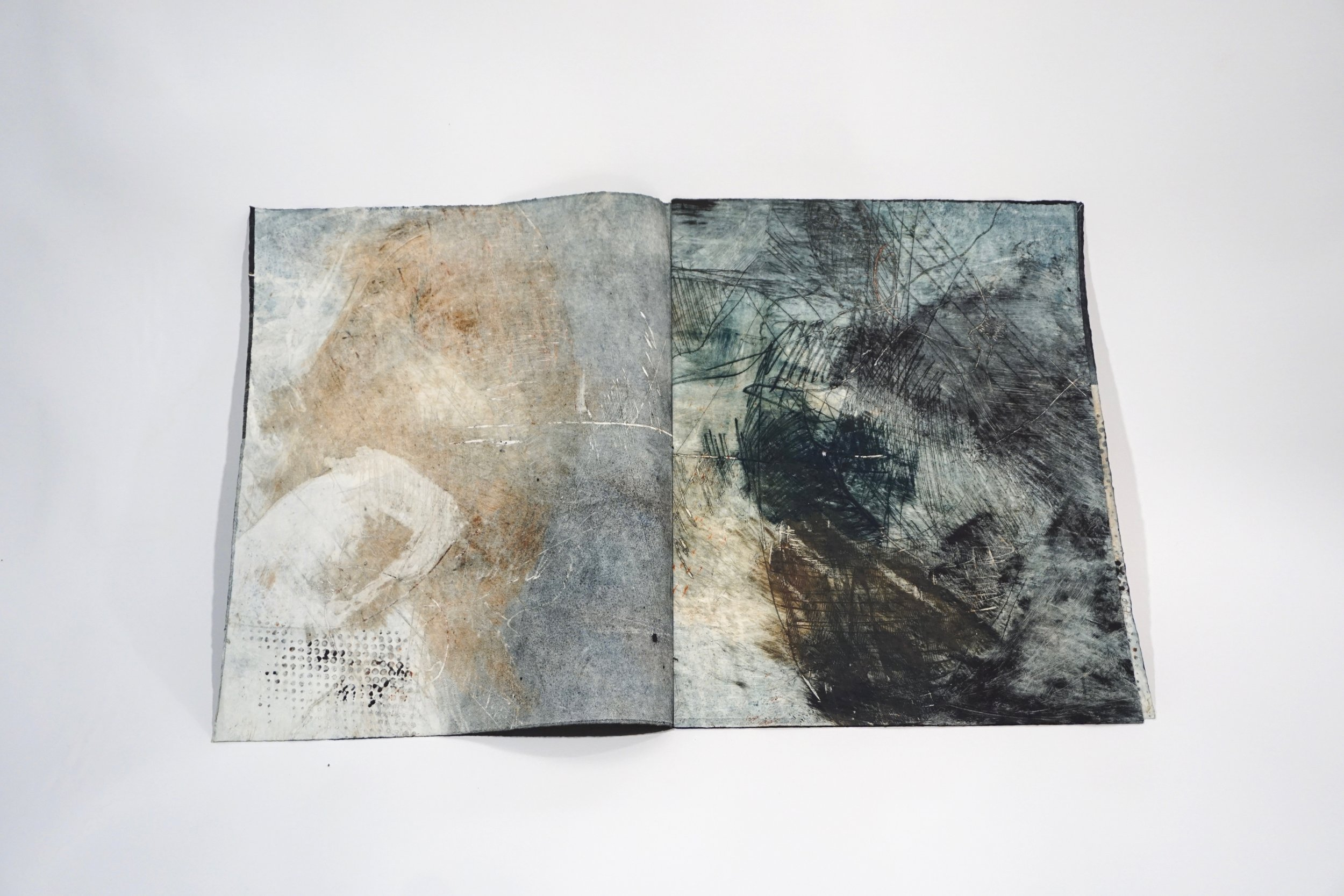 Untitled. Monotype book 16x13