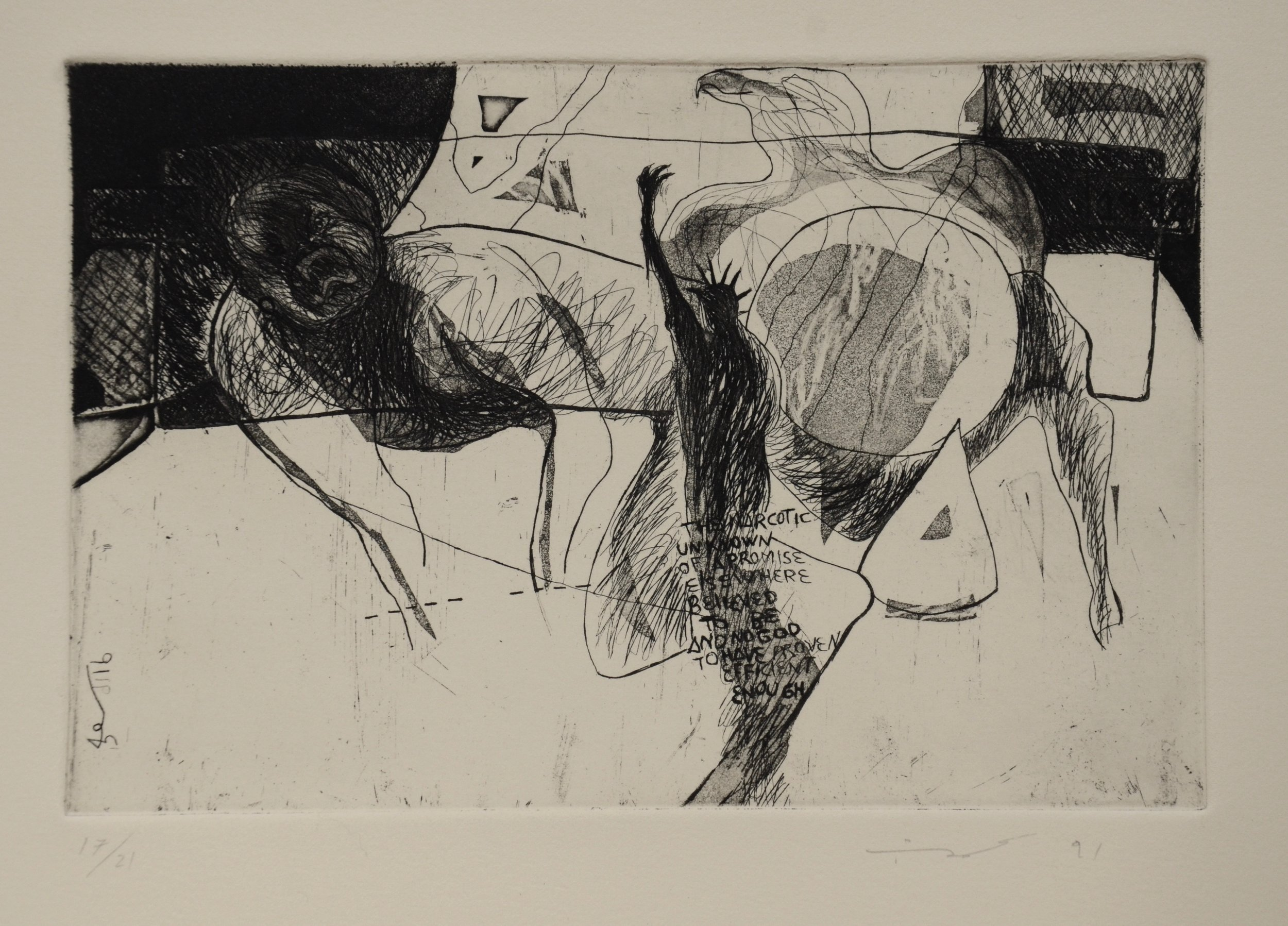Graceila Overijo  Etching with aquatint  Etching 1
