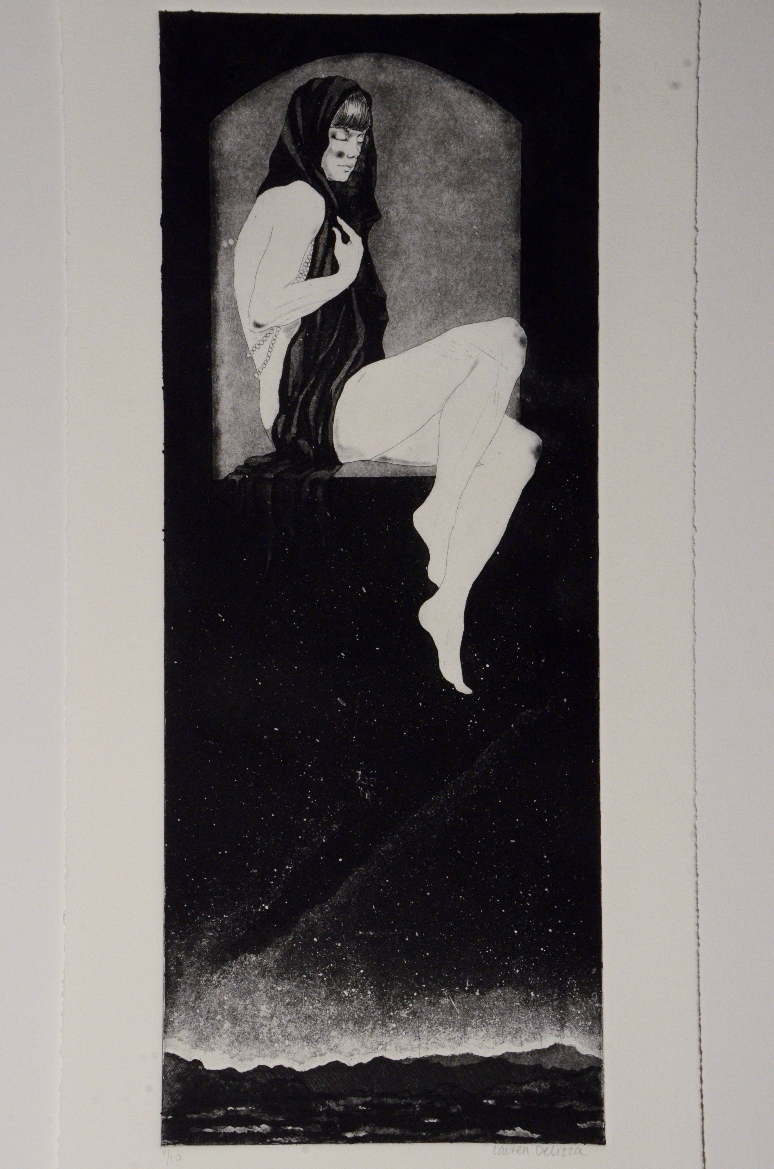 Lauren DeLizza  Etching with aquatint  Etching 1