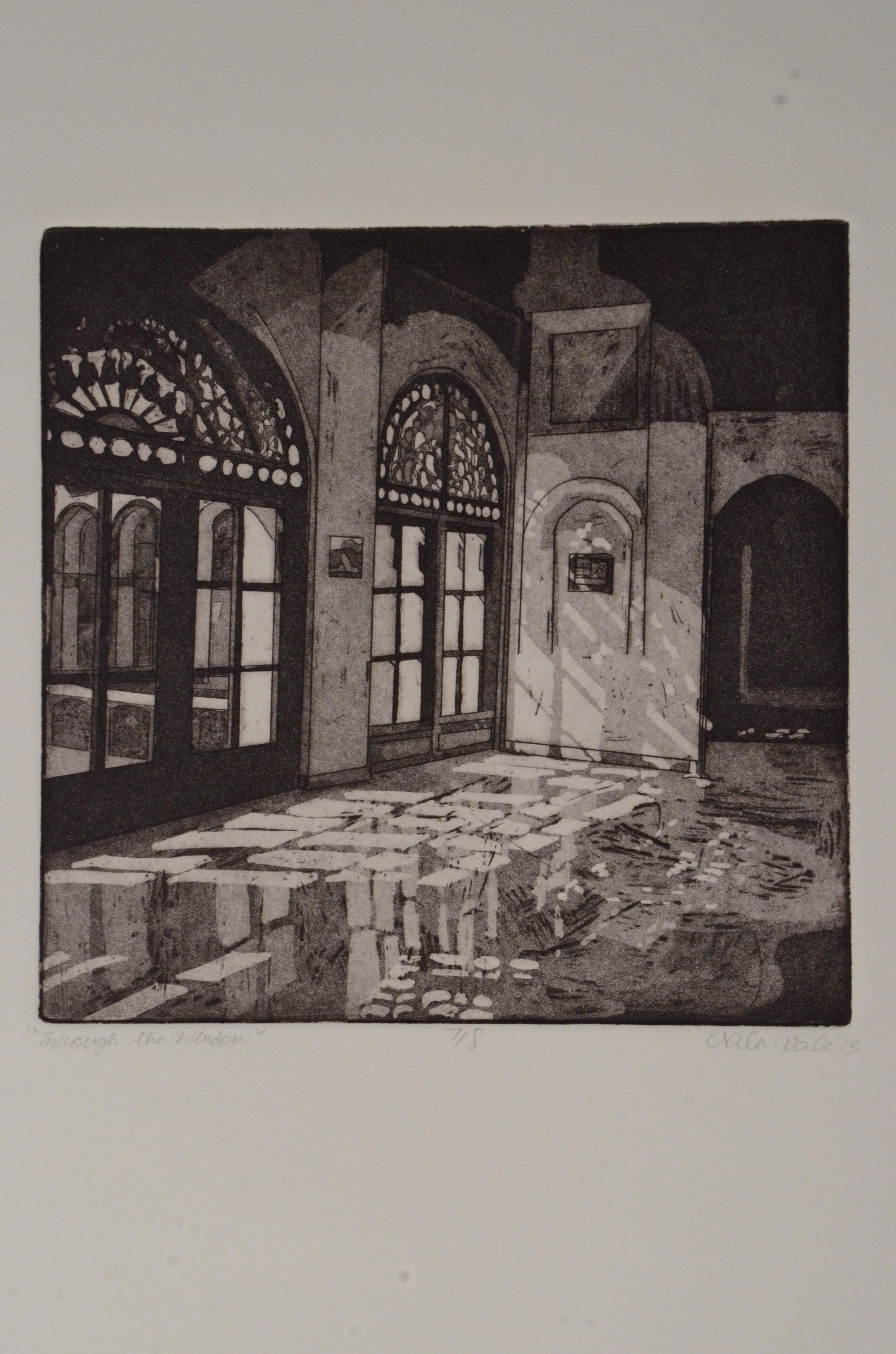 Nila Vala  Etching with aquatint  Graduate Etching 1