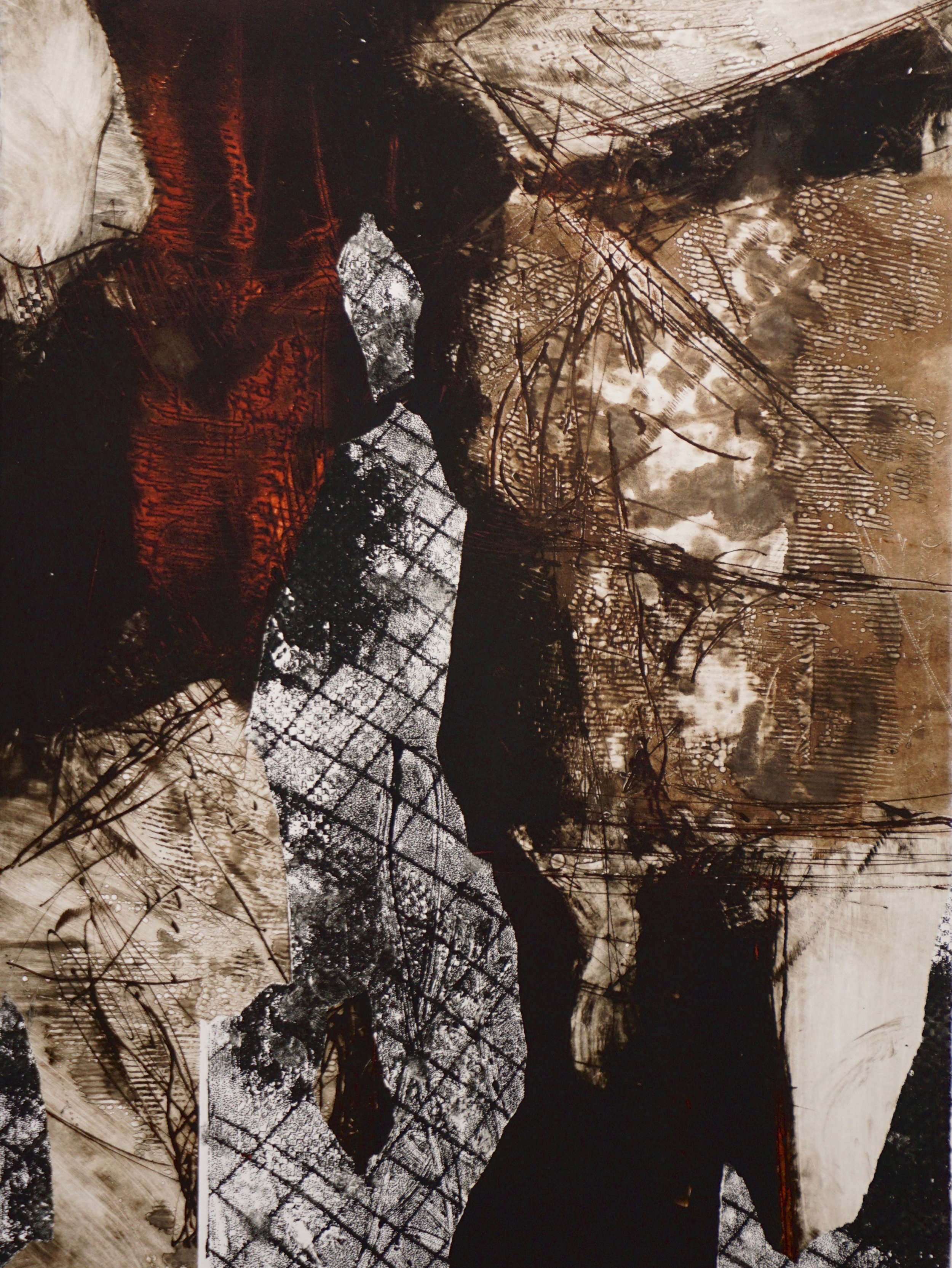 "Untitled  Monoprint  30"" x 22"""
