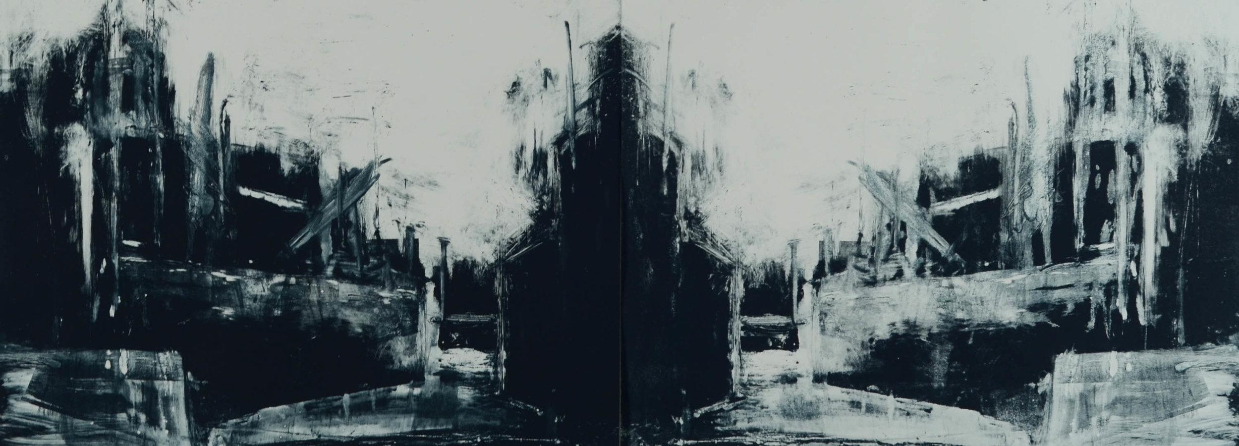 "Untitled  Monotype  29"" x 82"""
