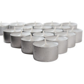 metal cup 8-hour event tealights
