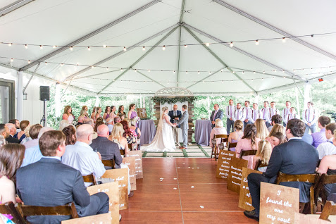 Photo by Tiffany L Johnson Photography  40 x 60 White top tent from CE Rental