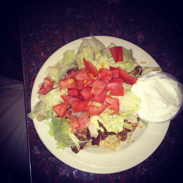 Our new and fabulous Taco Salad. 4.95