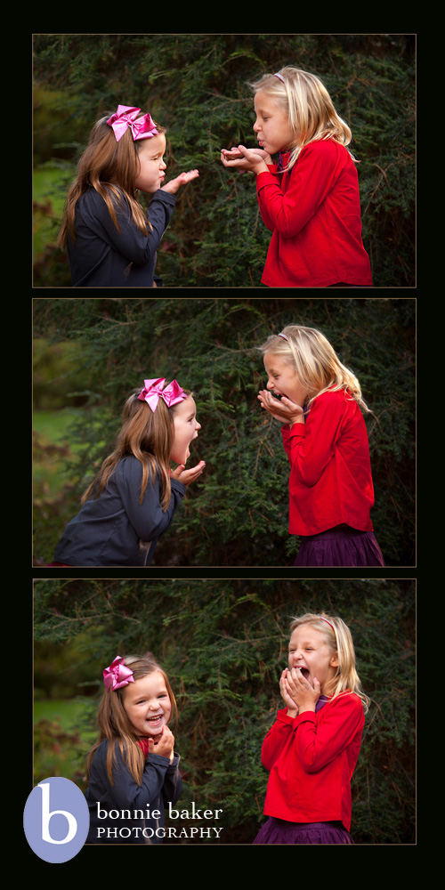 """Sister Act"" was my final entry in the competition.  I love how these sisters are interacting in these images; their expressions are priceless!"