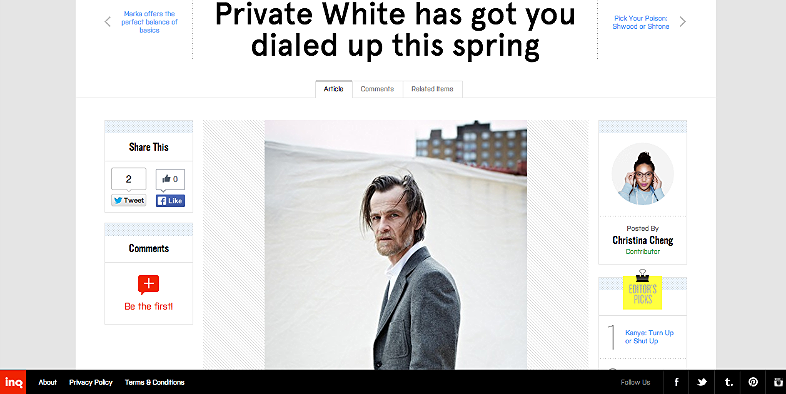 Private White has got you dialed up for this spring  http://inqmind.co/2013/03/private-white-has-got-you-dialed-up-this-spring/