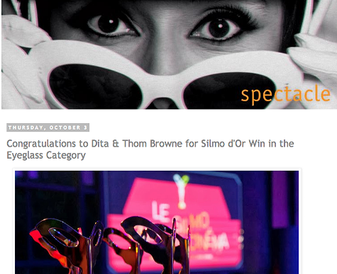 Congratulations to Dita & Thom Browne for Silmo d'Or Win in the Eyeglass Category  http://spectaclelovesyou.blogspot.ca/2013/10/congratulations-to-dita-thom-browne-for.html