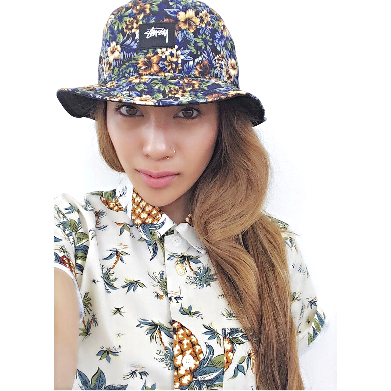ISLAND REVERSIBLE BUCKET HAT    DELUXE MEN'S PINEAPPLE SHIRT