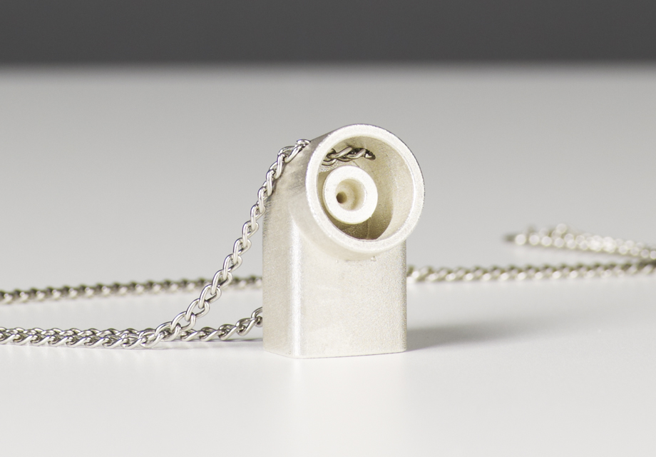 3D printed sterling silverventolin inhaler