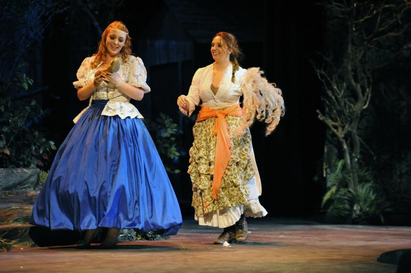 Allison Lewis (CINDERELLA) and McKenna Mender (THE BAKER'S WIFE) Into the Woods 2012photo courtesy of Kristi Sestak