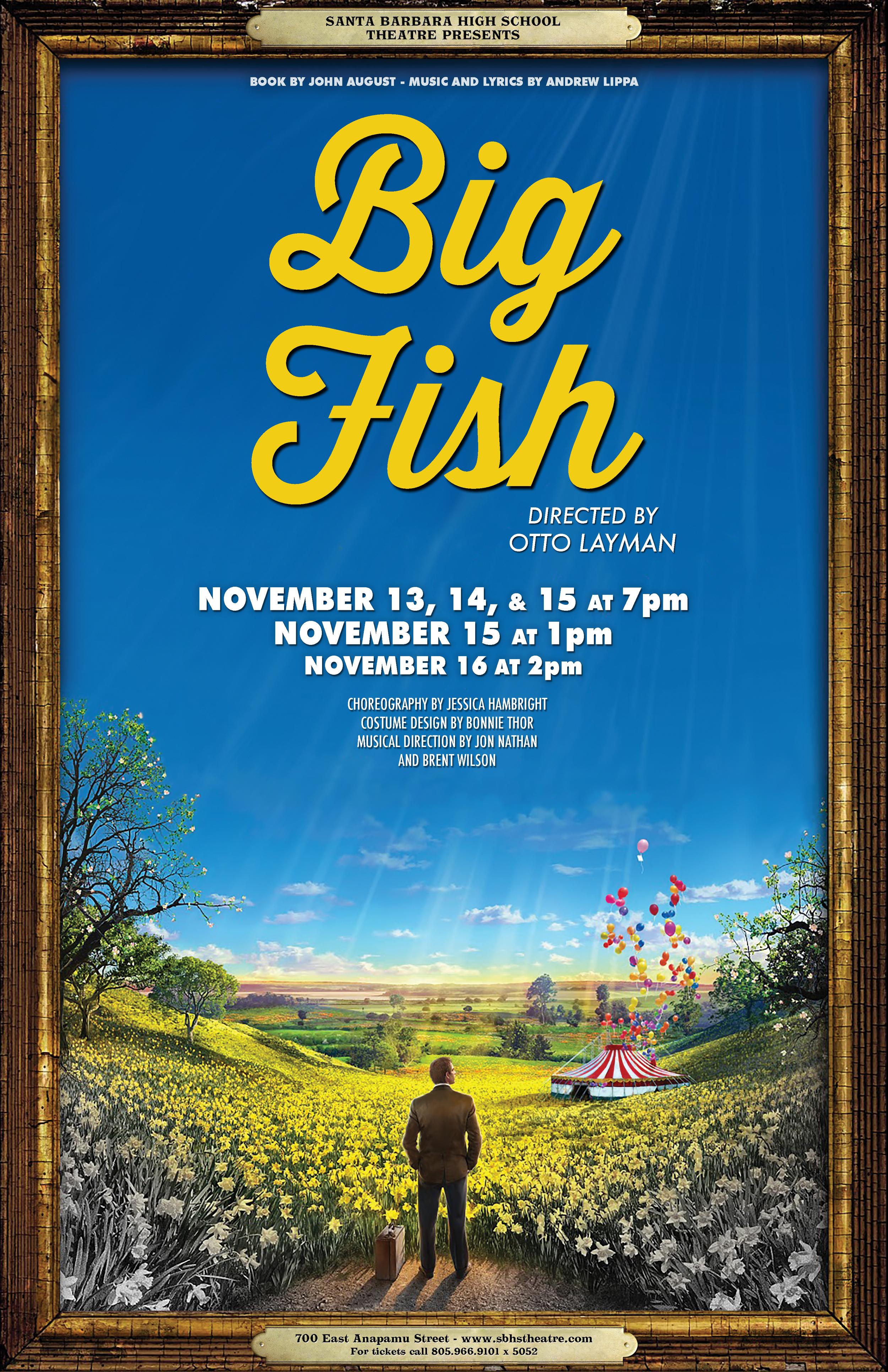 Big Fish Musical SBHS Poster Beau Lettieri