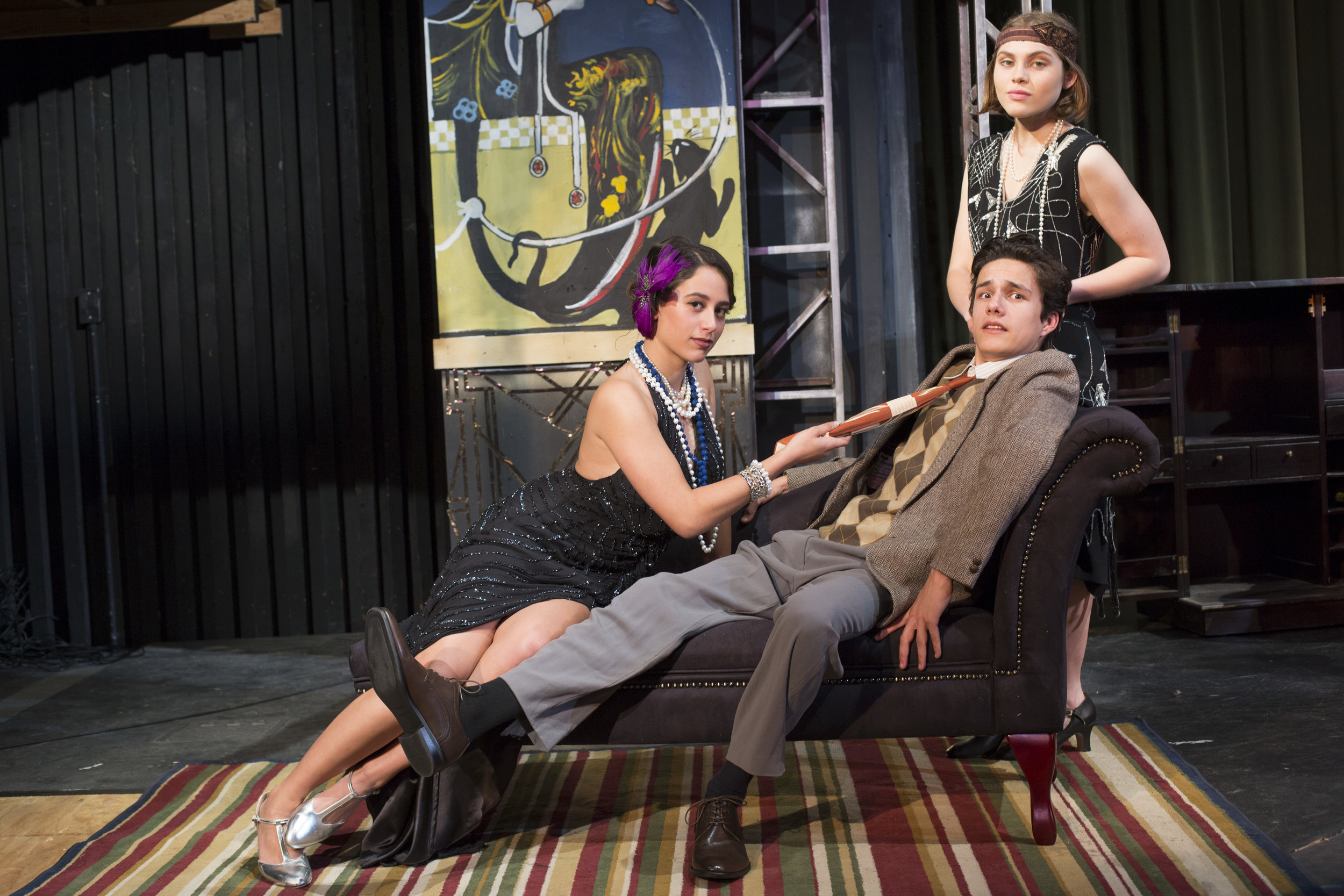 Bullets Over Broadway, Spring 2017, directed by Otto Layman. SBHS Theatre. Photo: Isaac Hernandez Herrero.