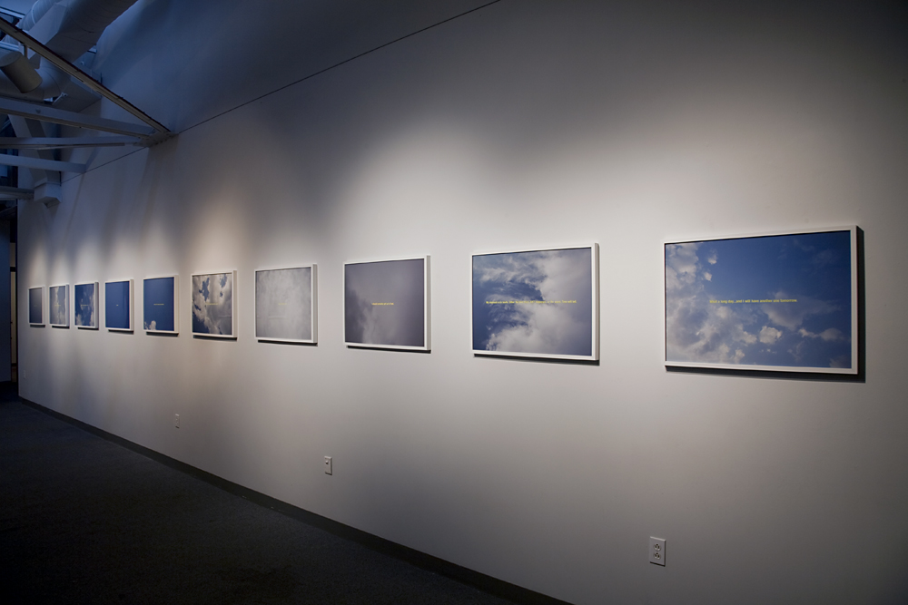 In the Clouds - installation view