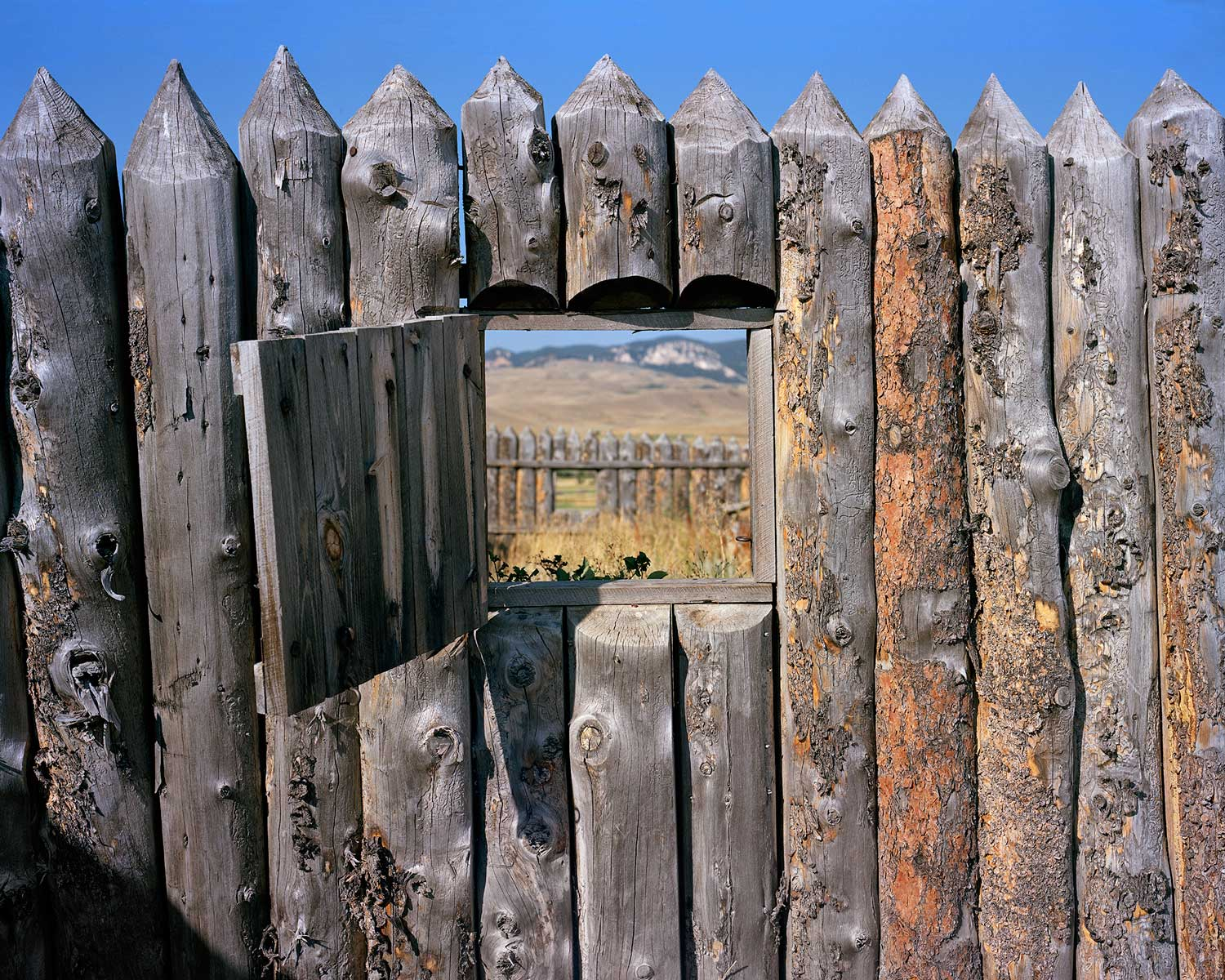 Stockade Wall, Fort Phil Kearney State Historic Site, Banner, WY