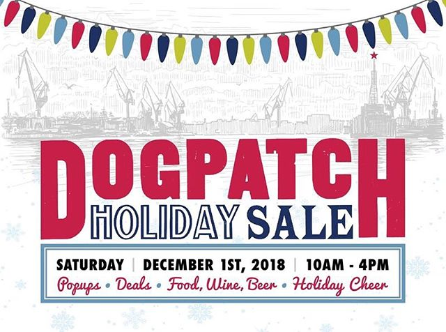 Oh heeeey world! We took a little break from social media but wanted to pop back in to let you know about our favorite neighborhood event, the Dogpatch Holiday Sale. 28 local businesses (including ShopFloor) are participating with open houses, pop ups, and great holiday steals. Stop by and see us this Saturday, December 1! More details at lovedogpatch.com