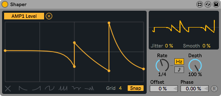 在模組上自定義控制曲線,可增加多點控制。