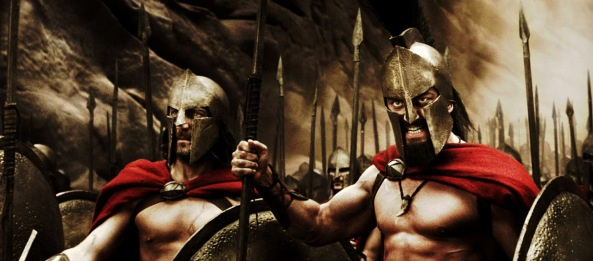Leonidas and his 300 Spartans take their stand at Thermopylae