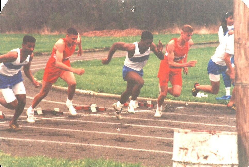 Running Track on the Yellow Springs High School track team