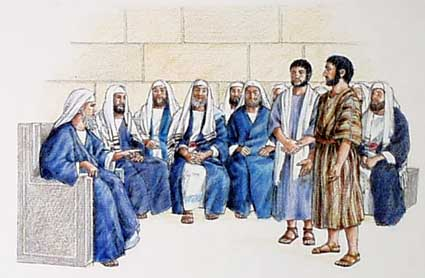 Pater and John before the Sanhedrin