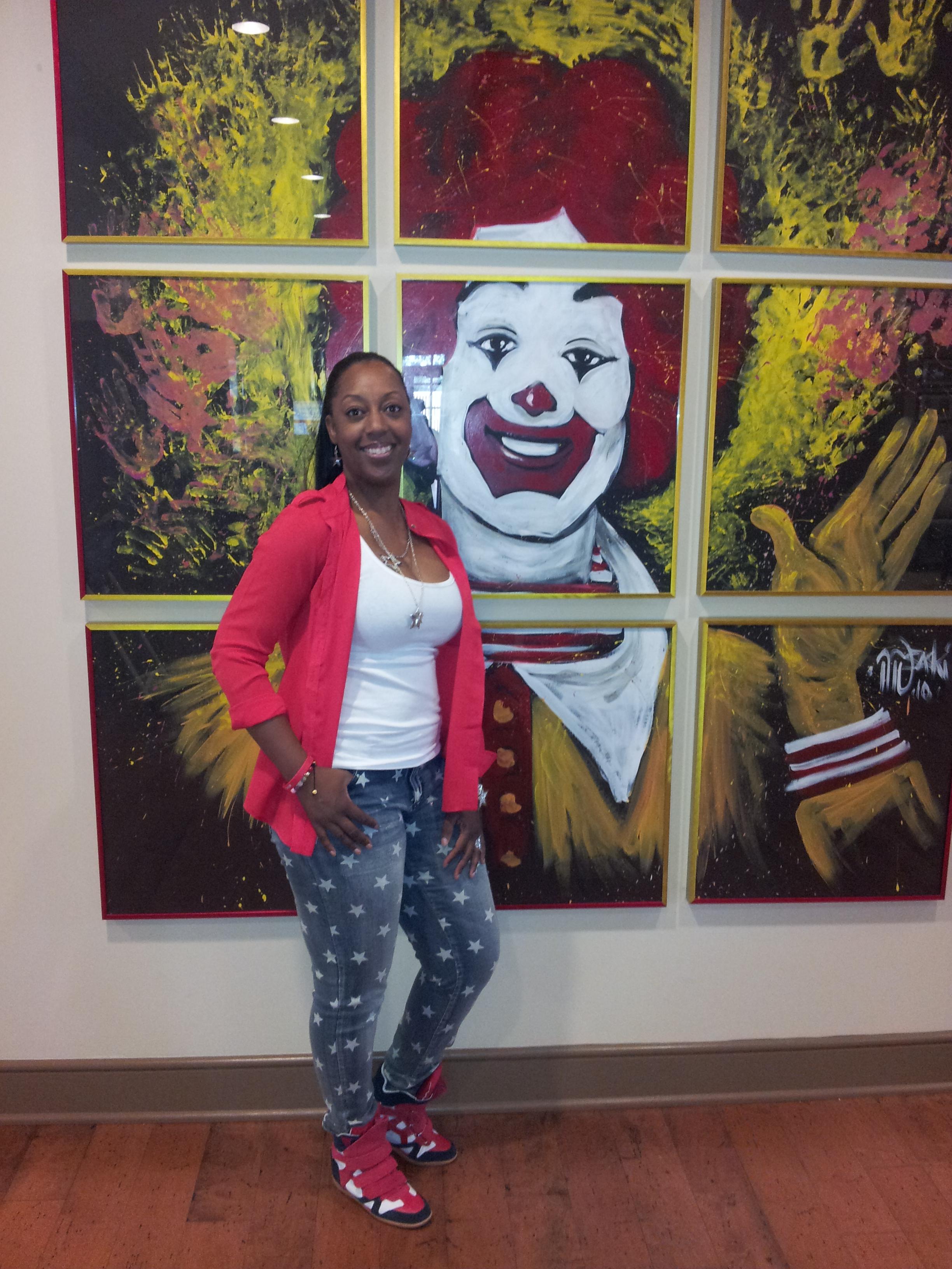 Tammie and Ronald McDonald Artpiece