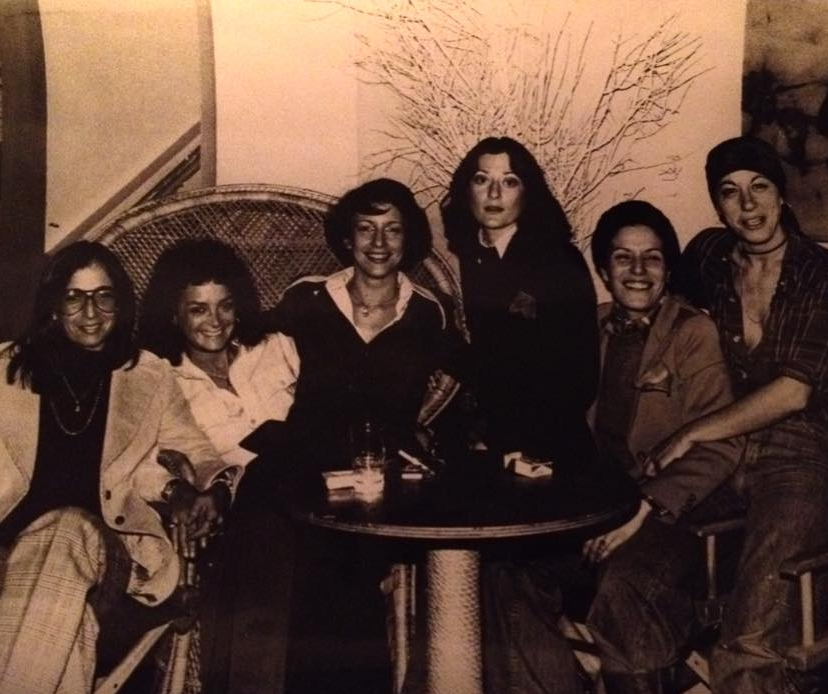 """""""Sahara lounge: l to r: Judith (a silent partner/investor); Michelle, Alix ( who did so many great political fundraisers at Sahara), Linda, Barbara & me."""" - Leslie Cohen, 2018. Image courtesy of Leslie Cohen."""