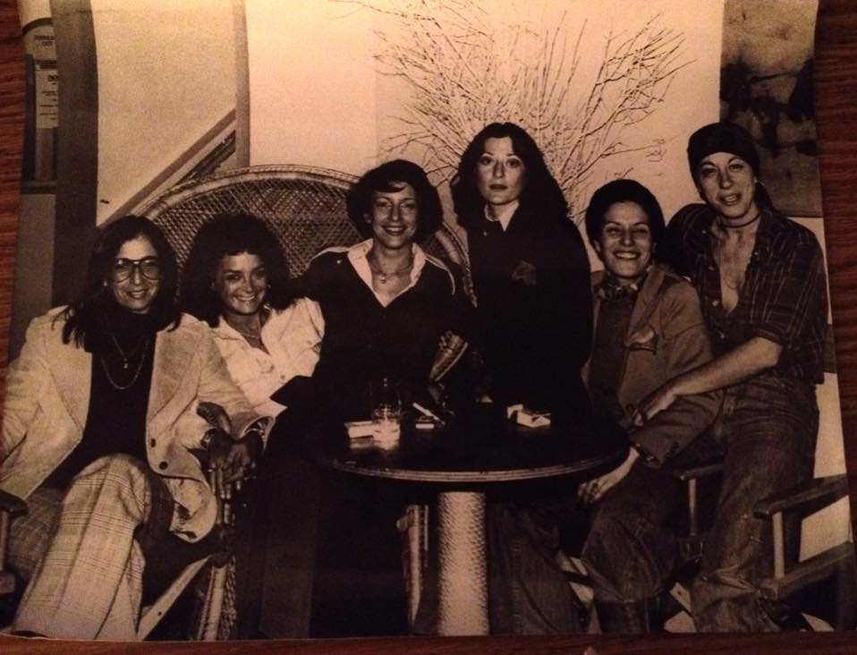 Right to left: Leslie, Barbara, Linda, unknown, Michelle, unknown. Image courtesy of Leslie Cohen.