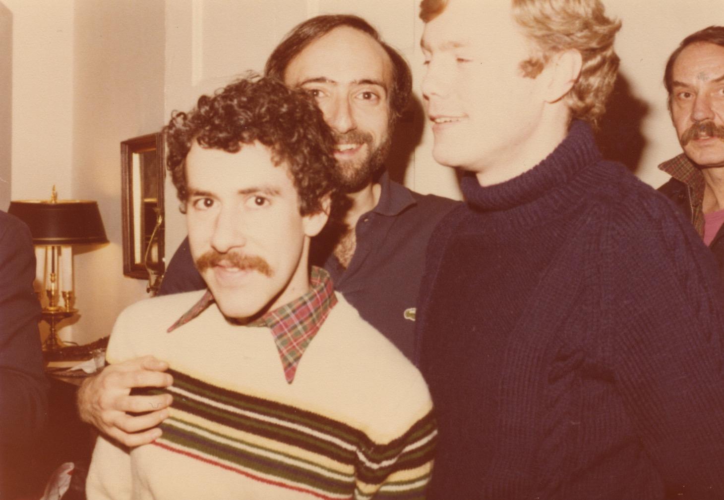Identity House friends: Bill Wilson, Dan Bloom and Steve Finestein in 1980. Image courtesy of Lee Zevy.