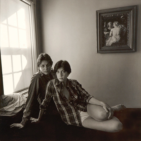 Self-Portrait with Cconnie Evans, BethlehEem, PA 1979. Image courtesy of Joyce Culver.