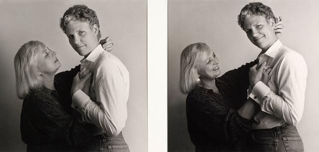 Deborah Walsh and Jeanie Meuer, NYC 1985. Image courtesy of Joyce Culver.