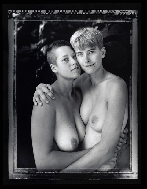 Margo Gardiner and Natasha King, Michigan Womyn's Music Festival, 1994. Image courtesy of Joyce Culver.