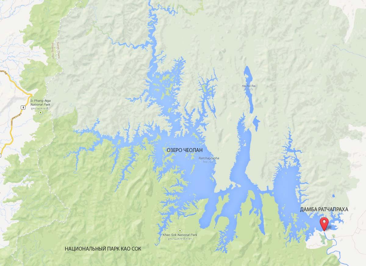 озеро Чеолан карта