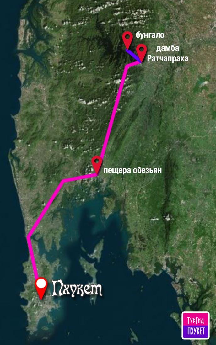 Карта экскурсии