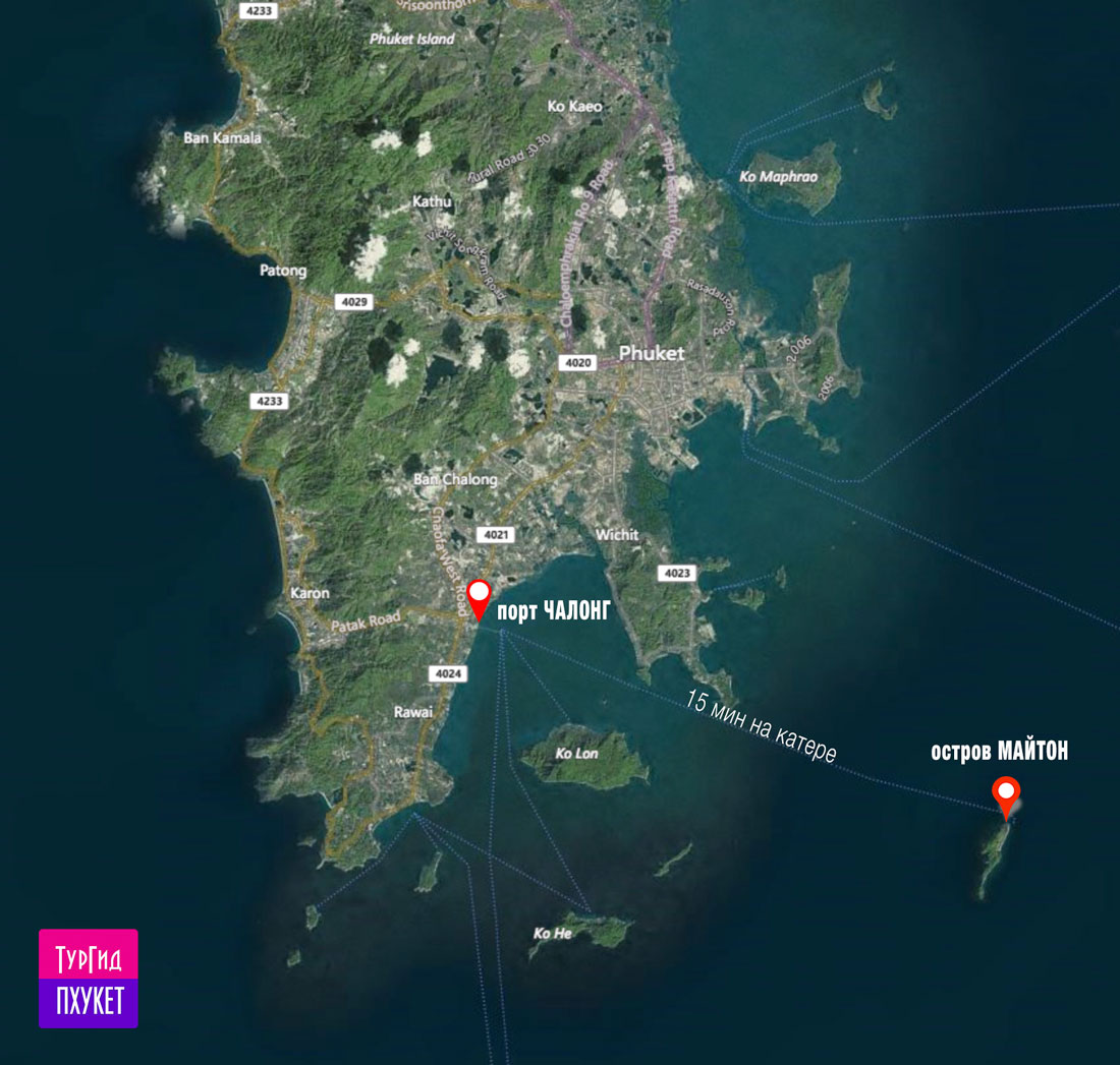 карта экскурсии - остров Майтон