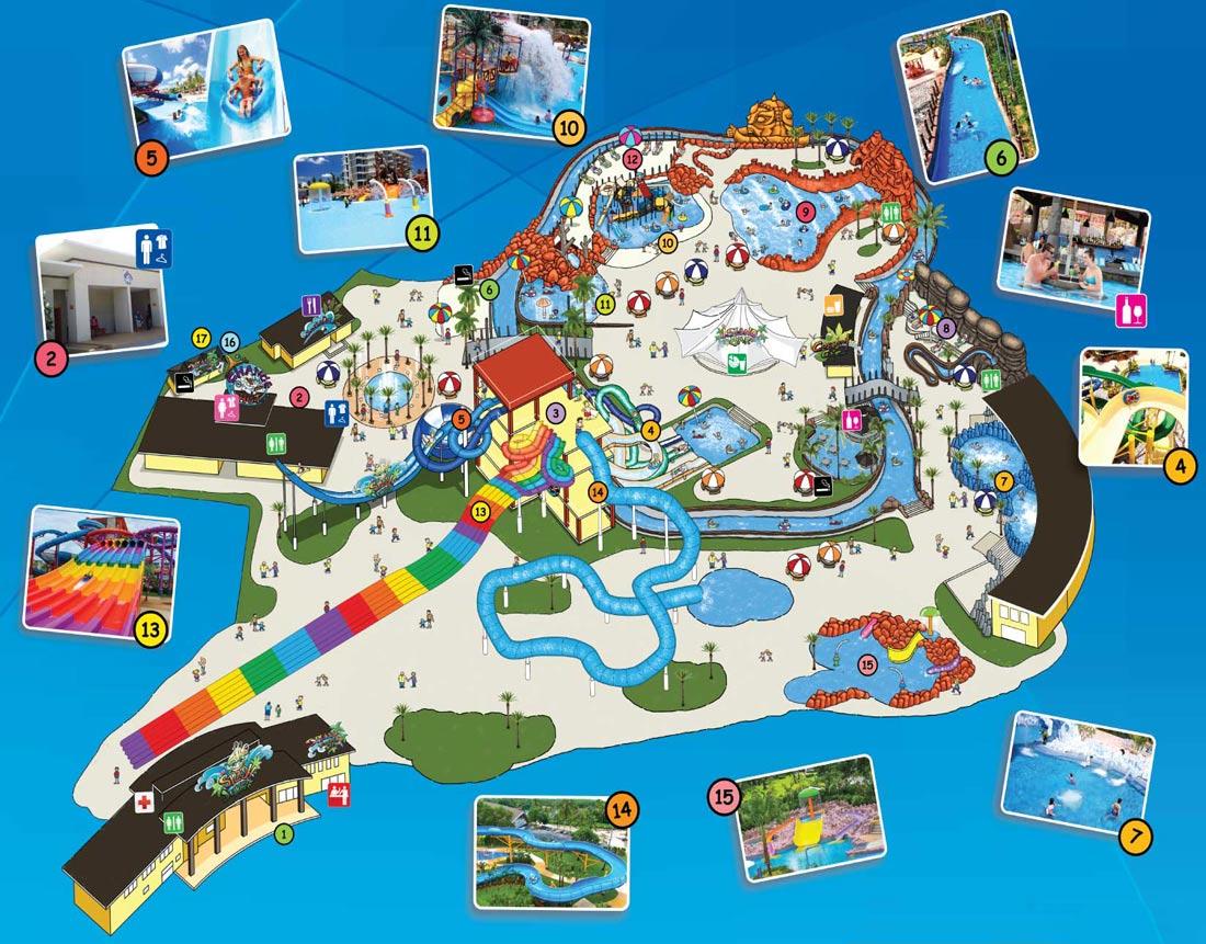 карта аквапарка на Пхукете ( Сплэш Джангл )