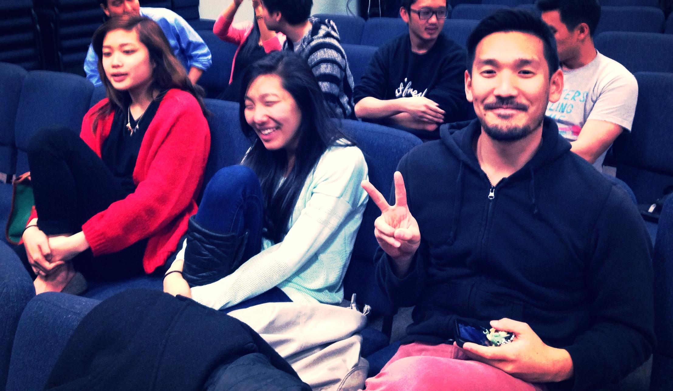 Look it's keyboardist Sally (L) and lead singer Alex (R) © 2015 Sophia Chang