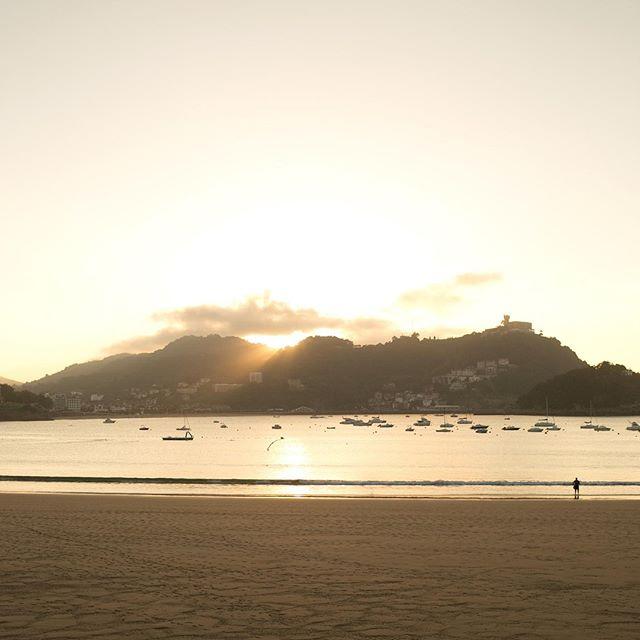 Sunset in San Sebastian 🌅 #travelwithML #spain
